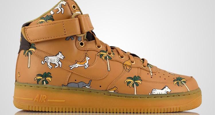 """Nike Air Force 1 High """"Safari Explorer"""" Custom by Revive Customs"""