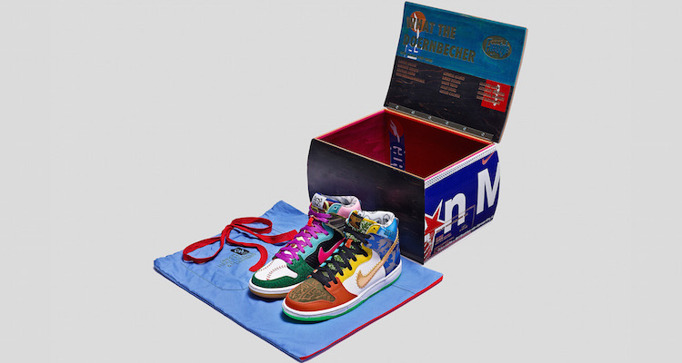 The Nike SB Dunk High What The Doernbecher Auction Begins Tomorrow