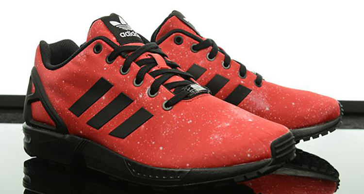 reputable site 6849d 9ee1a red adidas zx flux