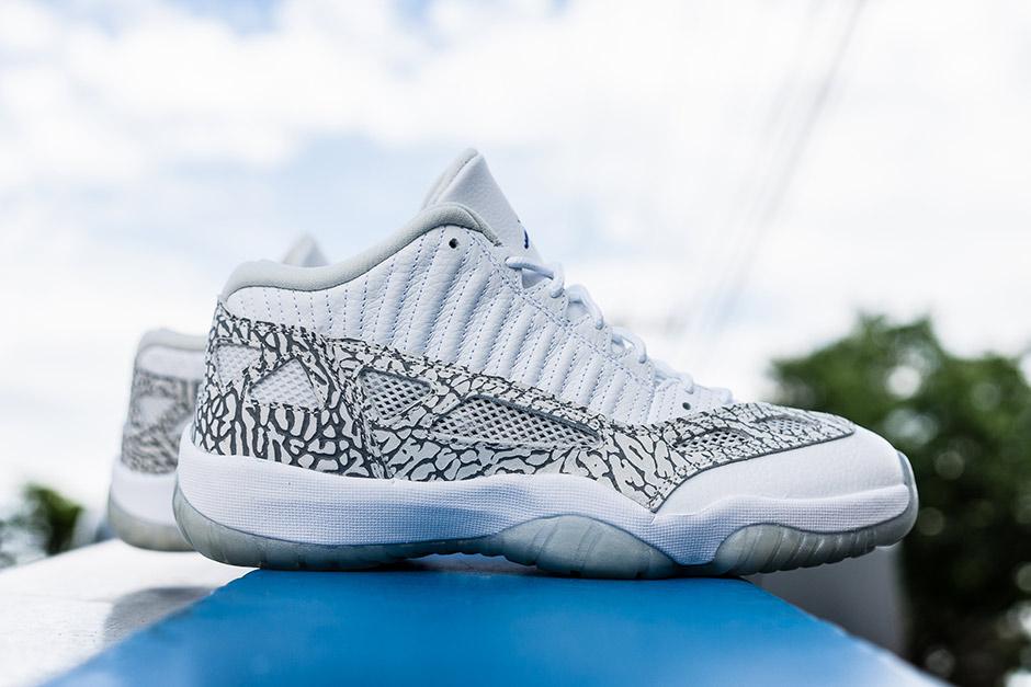 How The Air Jordan 11 Low Ie Space Jam Looks On Foot Nice Kicks