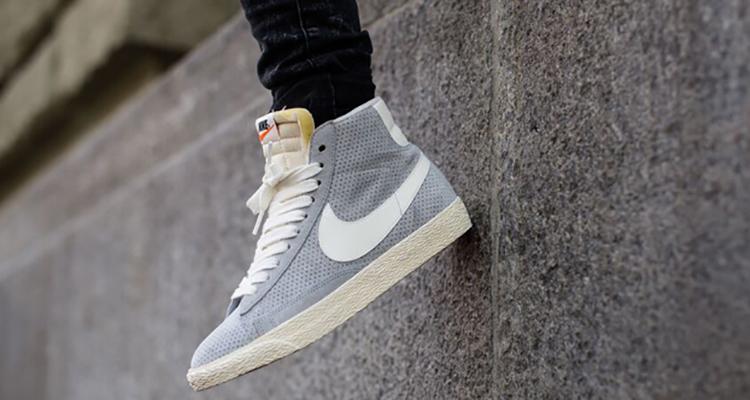 Gris Nike Blazer Mi Suède