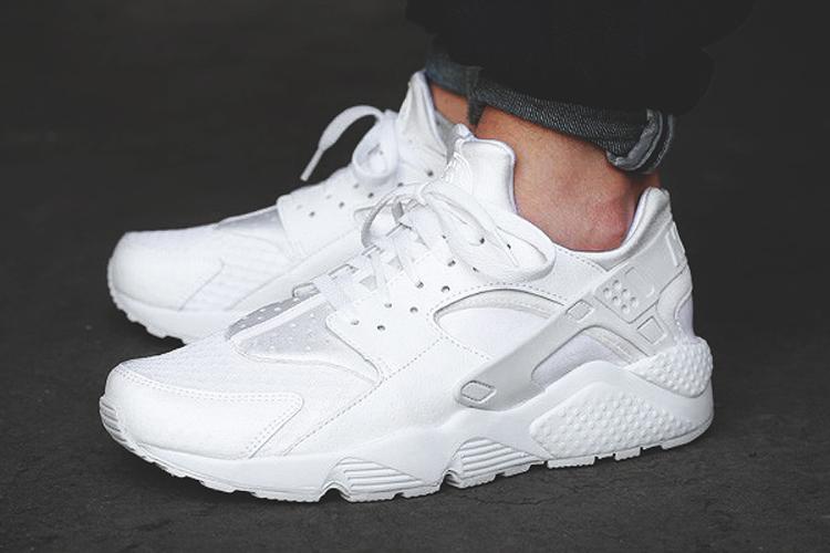 All White Nike Air Huarache 318429-111