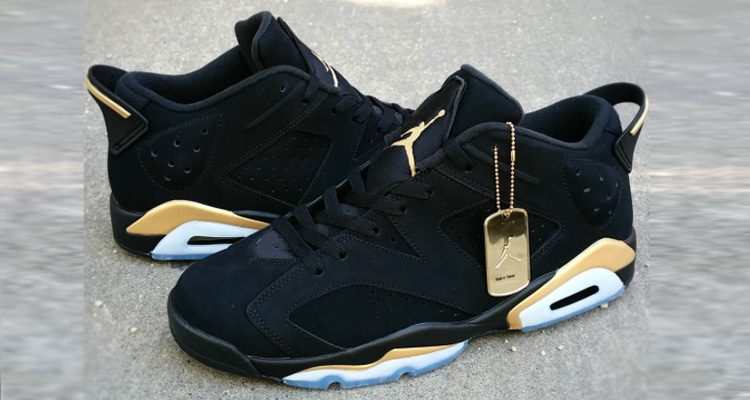 best sneakers 12462 a73ec air jordan 6 gold and black
