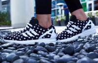 adidas ZX Flux Polka Dot On-Foot Look