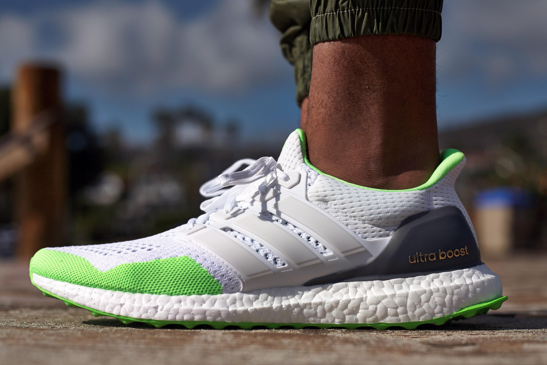 adidas ultra boost white green