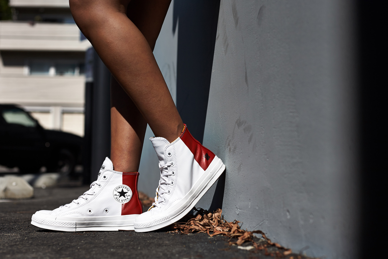 converse hi on feet