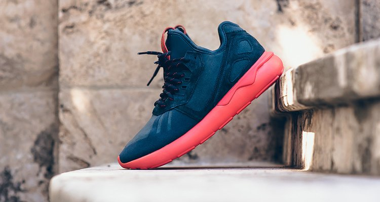 Adidas Tubular Runner Primeknit Core Black On Feet Sneaker