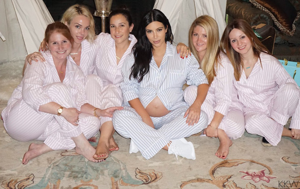 "Kim Kardashian in the adidas Yeezy Boost 350 ""White"""