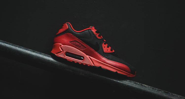 Nike Air Max 90 Hiver Premium Rouge Noir