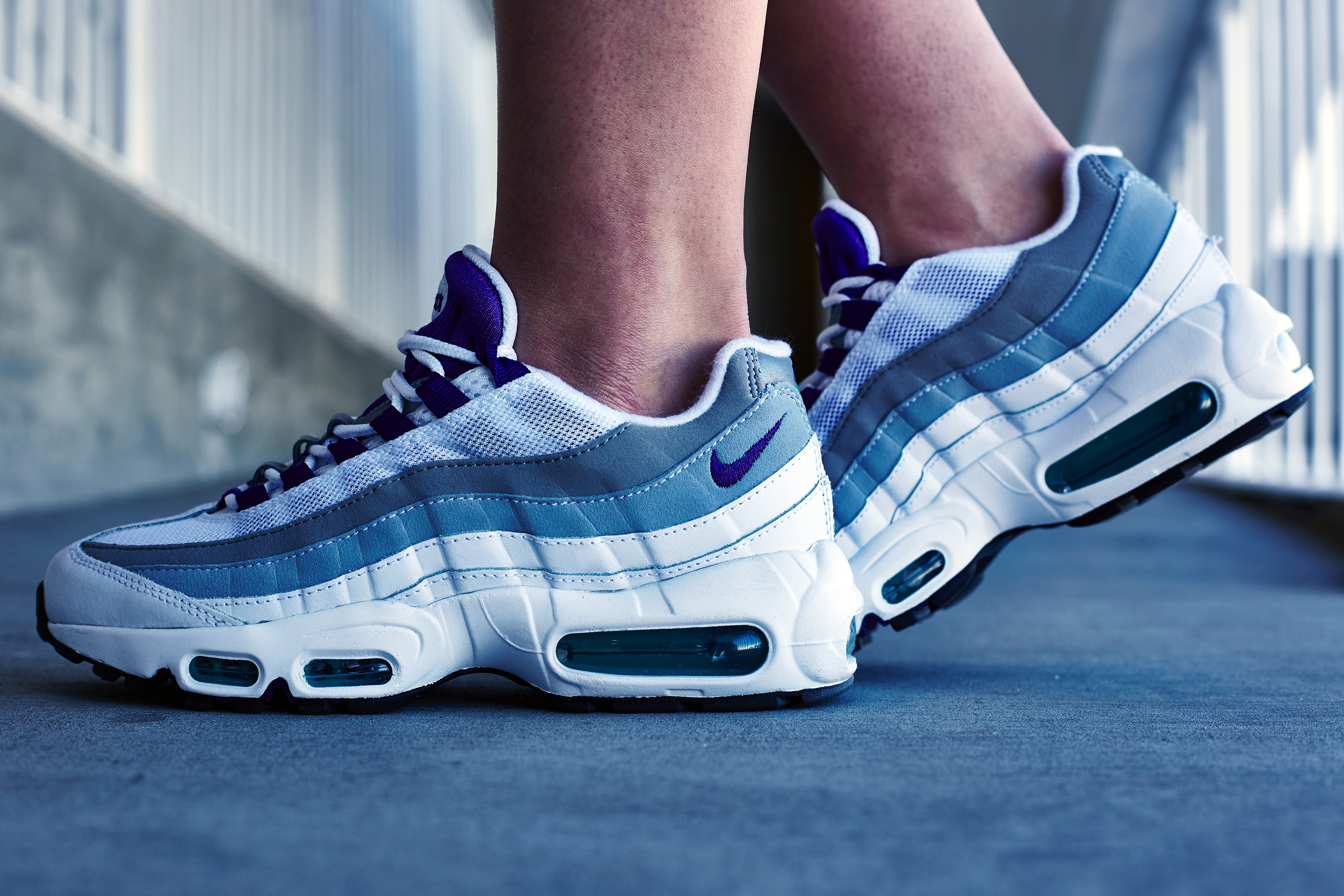 Nike Air Max 95 Grey On Feet