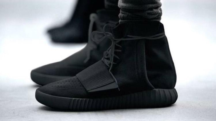 Adidas Yeezy Boost 750 Black - Black Sole (photoshop)
