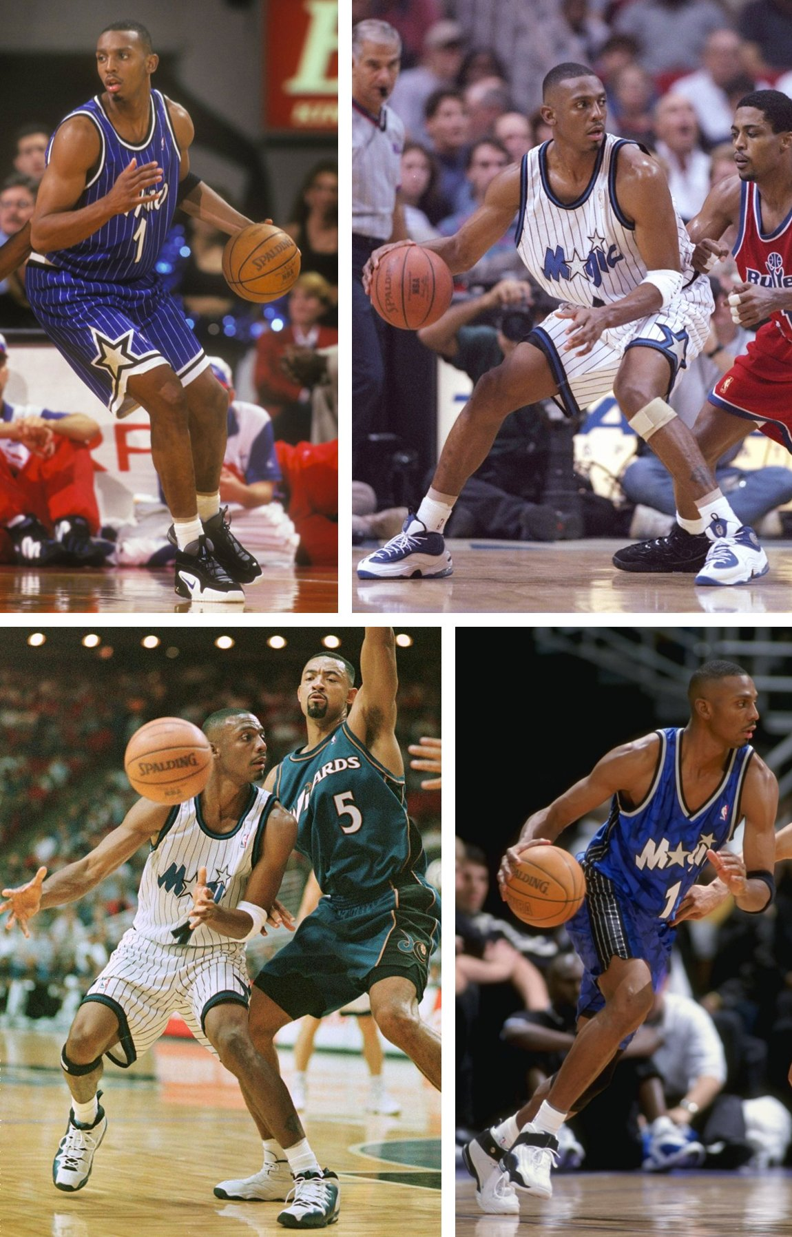 Penny Hardaway Kicks On Court