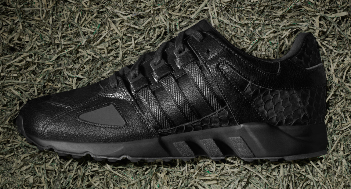 online store 37a04 b8e62 ... first look pusha t x adidas eqt running guidance 93 black market nice  kicks