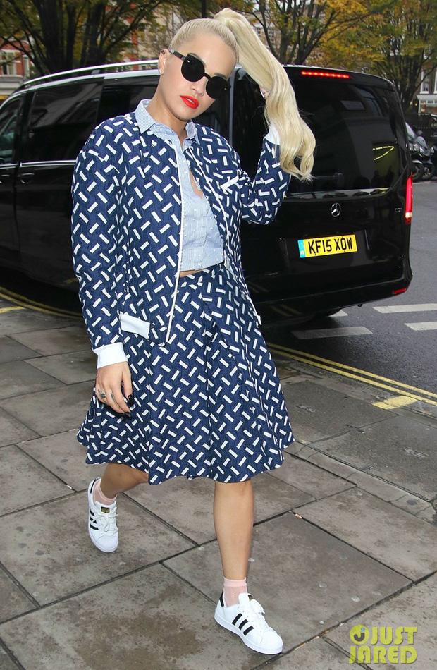 Rita Ora in the adidas Superstar
