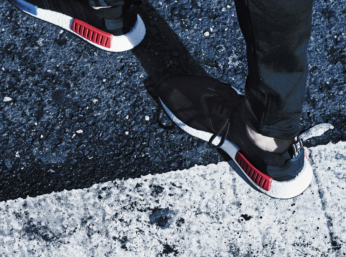 adidas nmd on feet