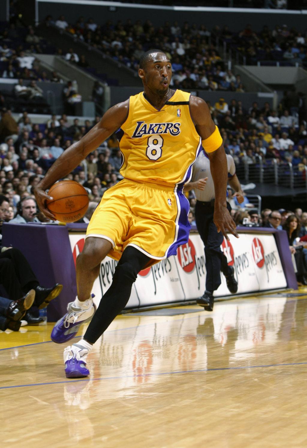 Kobe Bryant Playing in Reebok Iversons