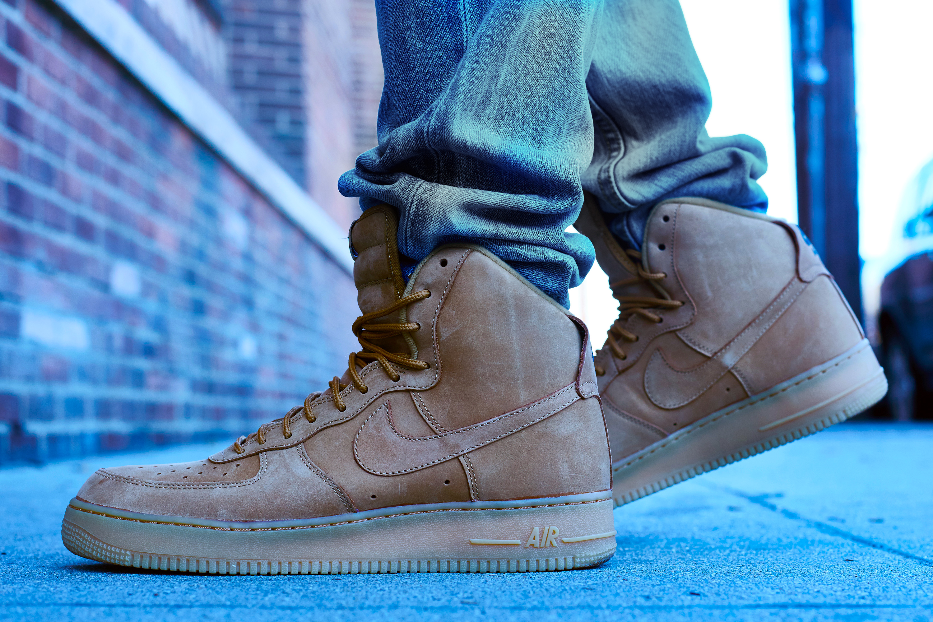 onfoot look nike air force 1 high quotflaxquot nice kicks