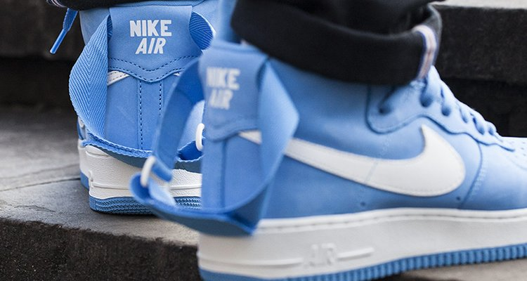 The Nike Air Force 1 High University Blue Drops Tomorrow Nice