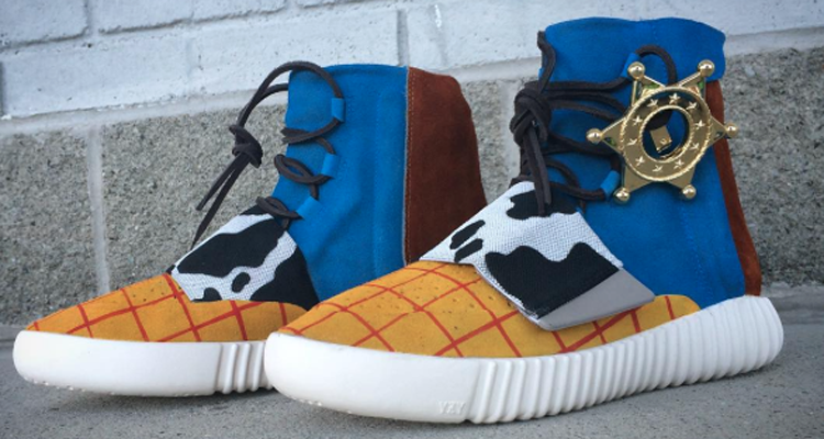 wholesale dealer ef345 a0cd6 Toy Story Inspires Latest Yeezy Boost 750 Custom from Mache Nice Kicks  Adidas ...
