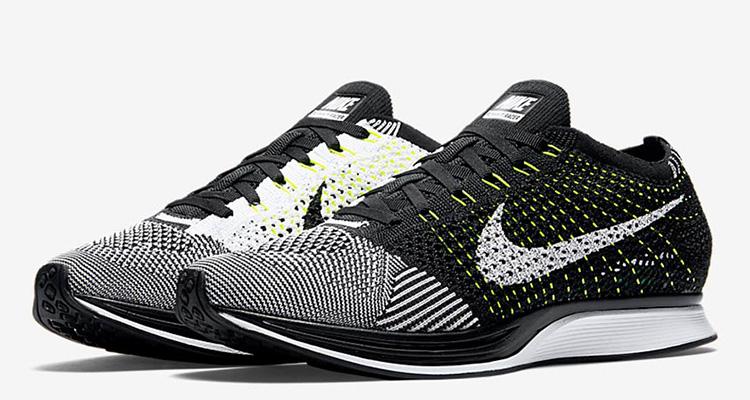 Nike Flyknit Racer Black/White-Volt