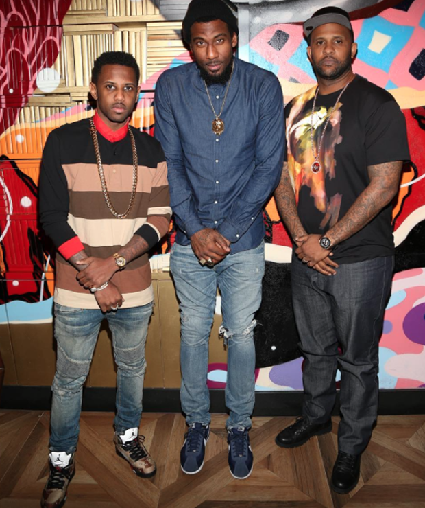 Fabolous in the Supreme x Air Jordan 5