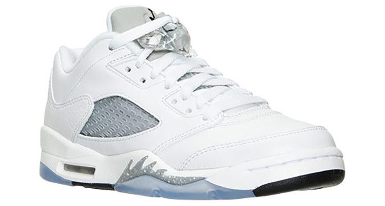 Air Jordan 5 Low White Wolf Grey