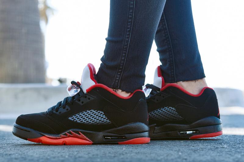 """Air Jordan 5 Low """"Alternate"""" On-Foot Look"""