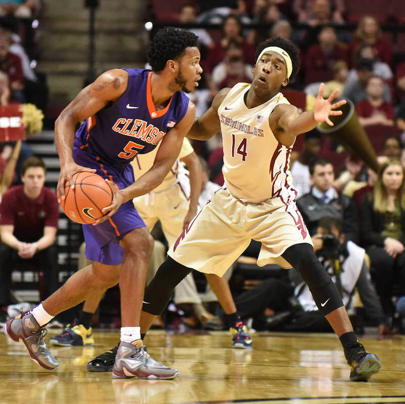 """Clemson's Jaron Blossomgame in the Nike LeBron 13 """"Opening Night"""""""