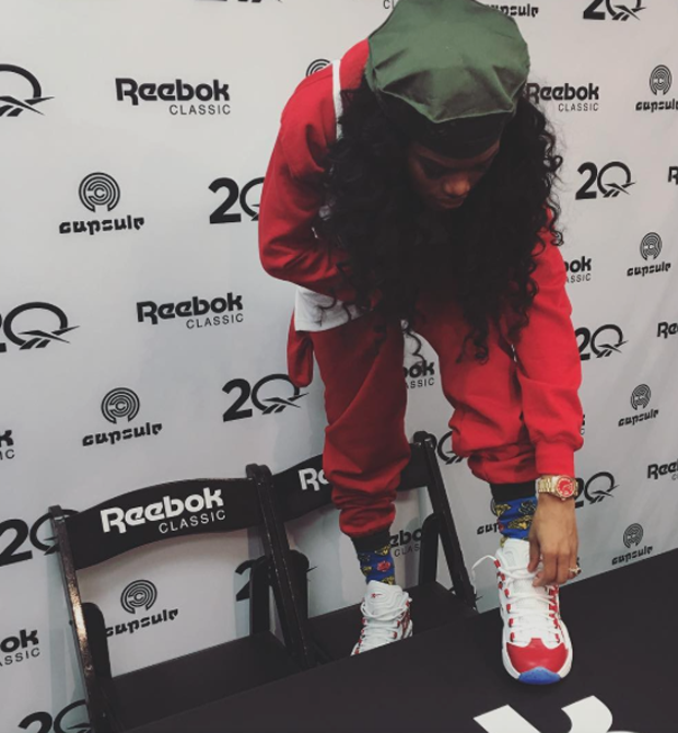 Teyana Taylor in the Reebok Question