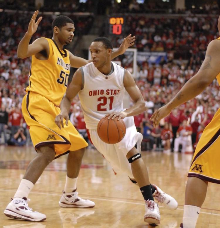 "Evan Turner in the Nike Zoom LeBron 6 ""Ohio State"""