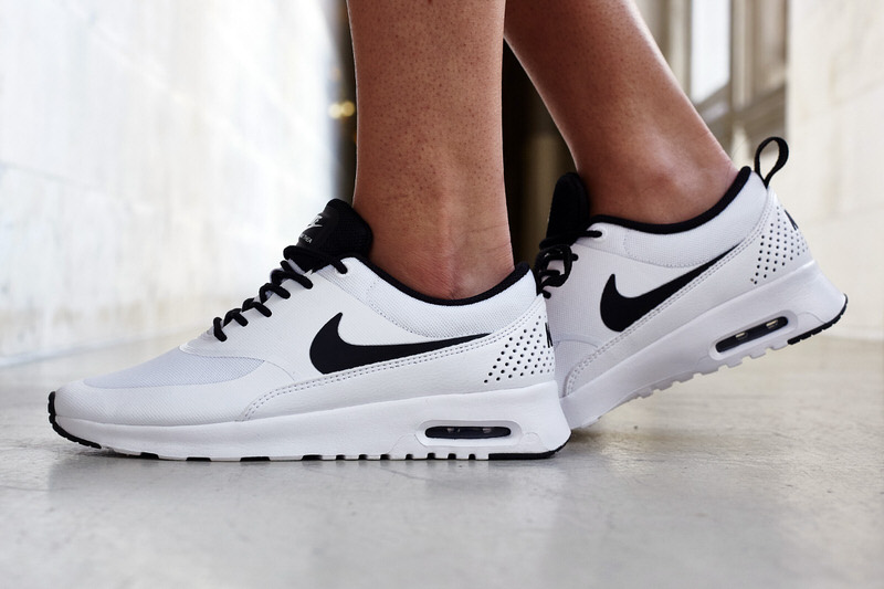 Nike Air Max Thea White/Black On-Foot Look