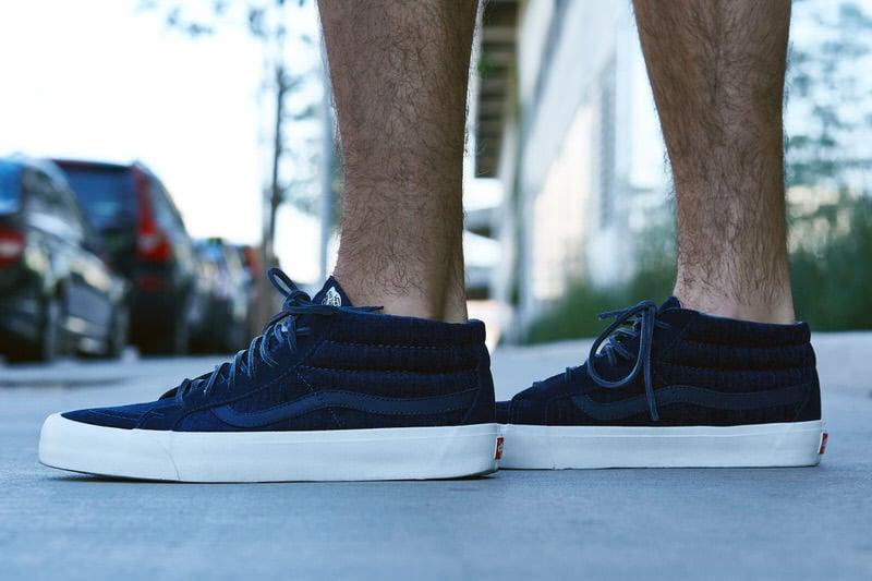 """Vans Sk8-Mid LX """"Navy Tweed"""" On-Foot Look"""