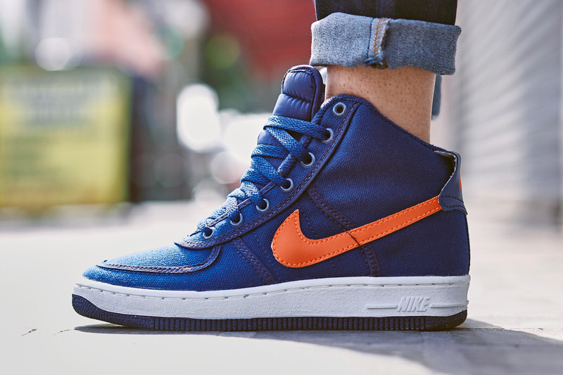 On Foot Look Tbt Edition Nike Air Force 1 High Canvas Navy