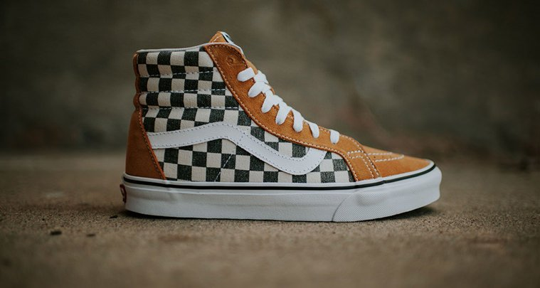 vans sk8 high checkerboard
