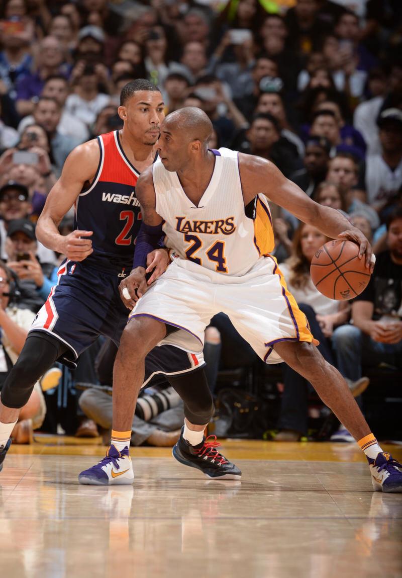 Kobe Bryant in a Nike Kobe 11 PE