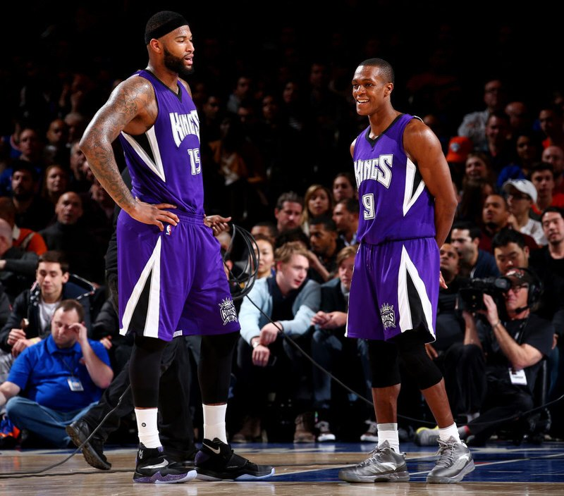 DeMarcus Cousins and Rajon Rondo in the Nike Zoom HyperRev 2016 and the Anta RR2, respectively