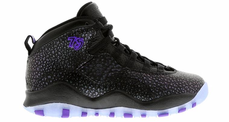Air Jordan 10 Black Fierce Purple