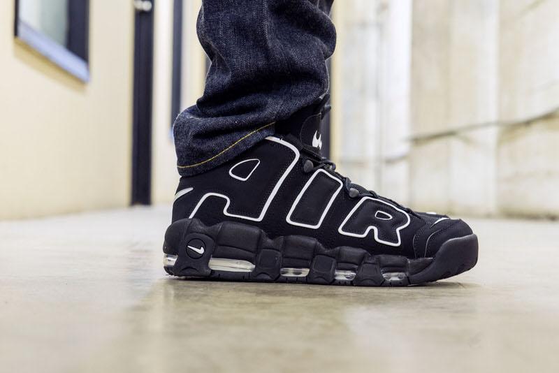 On Foot Look Nike Air More Uptempo OG BlackWhite | Nice