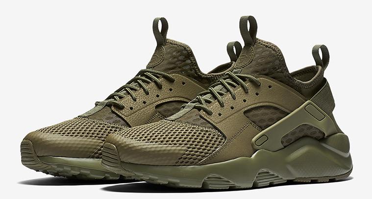 Nike Air Huarache Ultra BR Goes Military Green | Nice Kicks