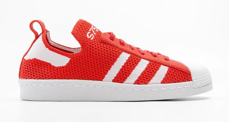 adidas Superstar 80s Primeknit Red/White   Nice Kicks