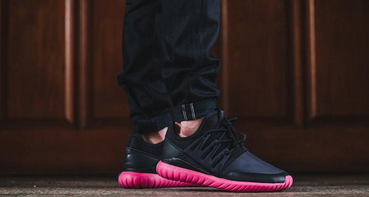 Adidas Tubular Radial Black/Burgundy