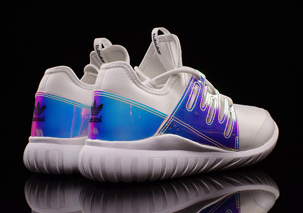 Adidas Tubular Radial Iridescent Hologram Metallic