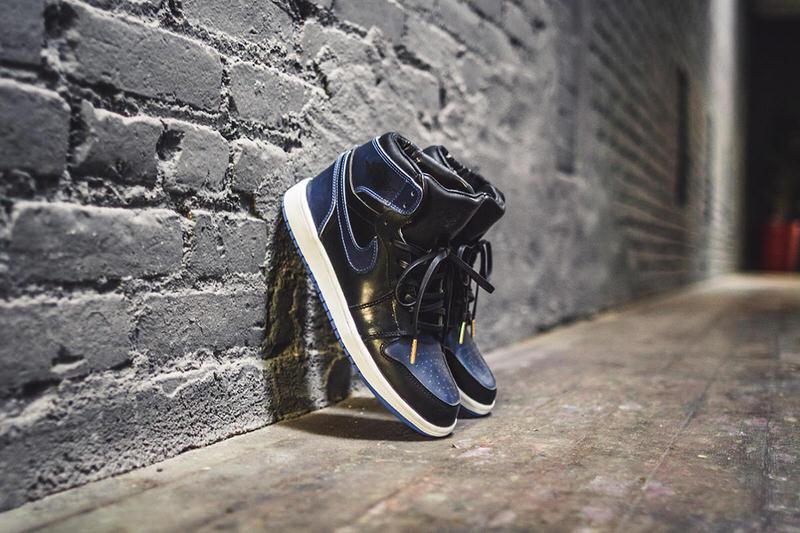 Air Jordan 1 Black/Royal Horween Leather