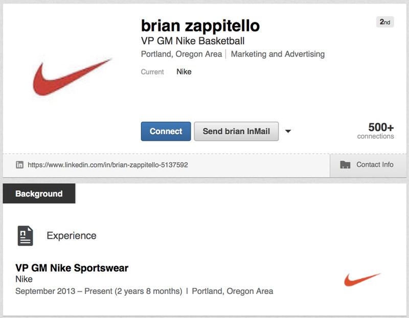 Brian Zappitello's LinkedIn Profile
