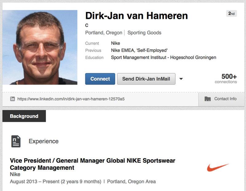 Dirk Jan-van Hameren's LinkedIn Profile
