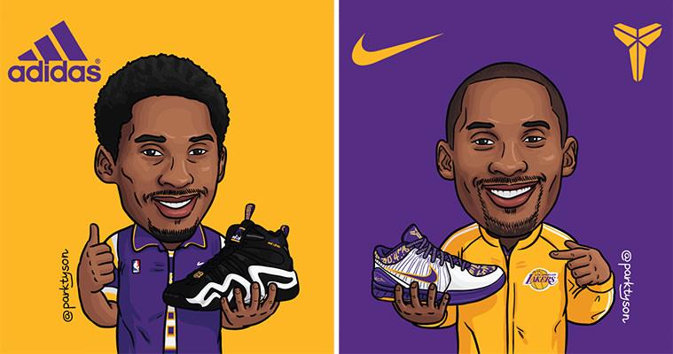 A SneakerArt Tribute to Kobe Bryant by ParkTyson   Nice Kicks