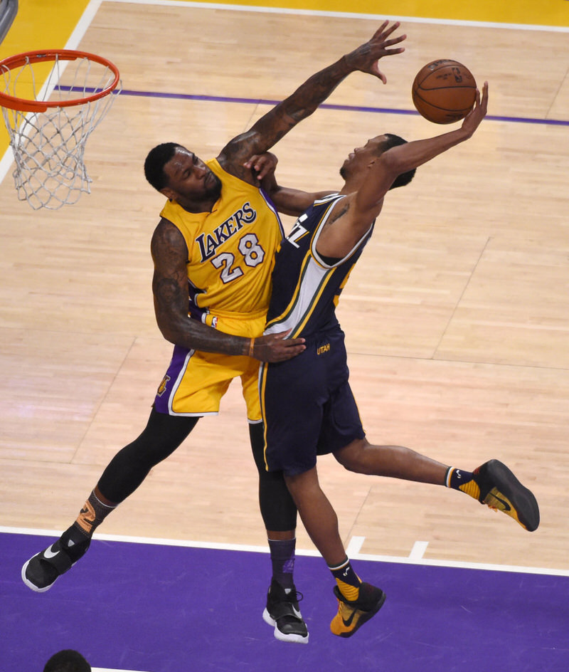 "Rodney Hood wearing the Nike Kobe 11 ""Fade to Black"""