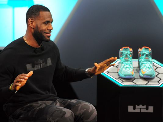 LeBron James with Nike LeBron 12