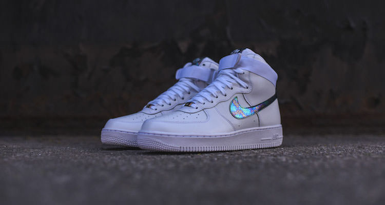 Nike Air Force 1 High LV8 White/Iridescent