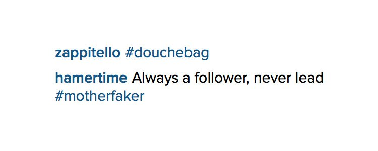 Comments by Nike VPs directed at Marc Dolce on Instagram